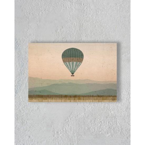 Toile d'une montgolfière sans encadrement
